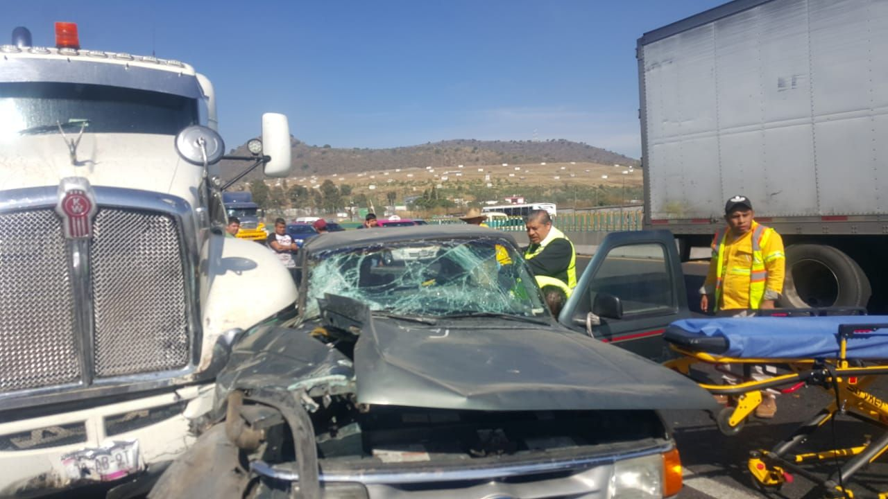 Niño pierde el pie  en accidente carretero en la Mexico- Puebla